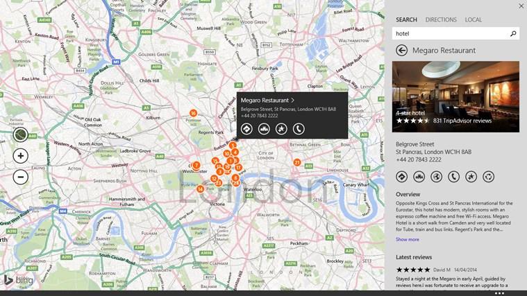 Maps screen shot 4