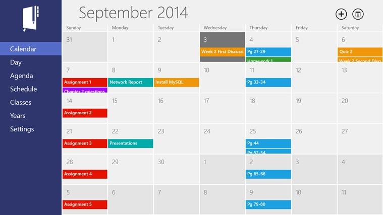 Calendar Planner In Windows : Aplikácia power planner homework pre systém
