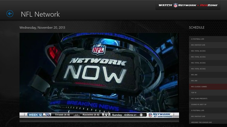 Watch NFL Network screen shot 0