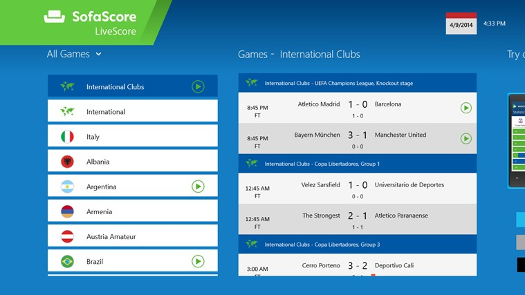 SofaScore LiveScore - Brazil 2014 football World Cup edition screen shot 0