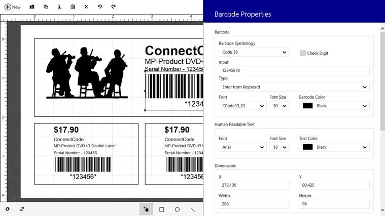 Barcode & Label petikan skrin 2
