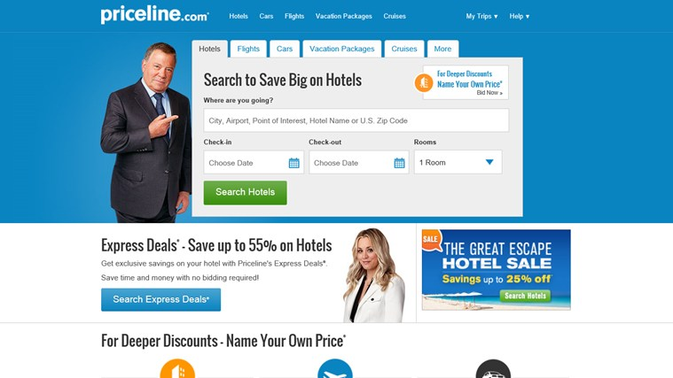 Priceline.com screen shot 0