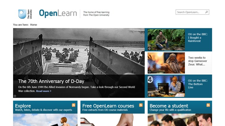 OpenLearn from Open University (beta) screen shot 0