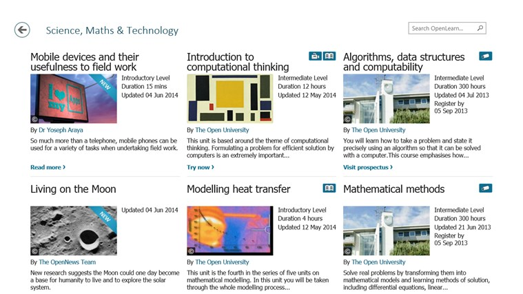 OpenLearn from Open University (beta) screen shot 2