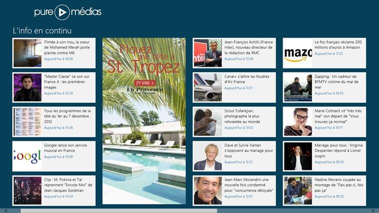 Puremedias - Buzz et Actu TV - OZAP.com capture d'écran 0