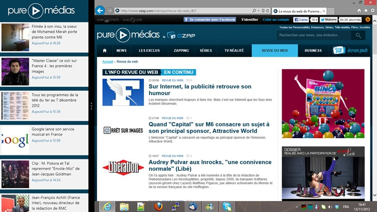 Puremedias - Buzz et Actu TV - OZAP.com capture d'écran 2