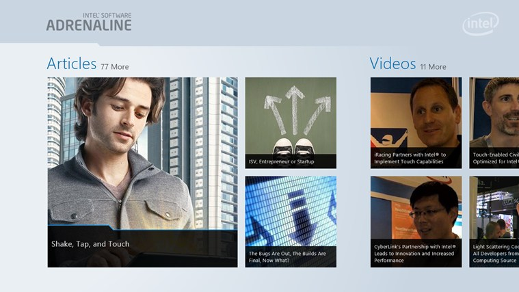 Intel Software Adrenaline screen shot 0