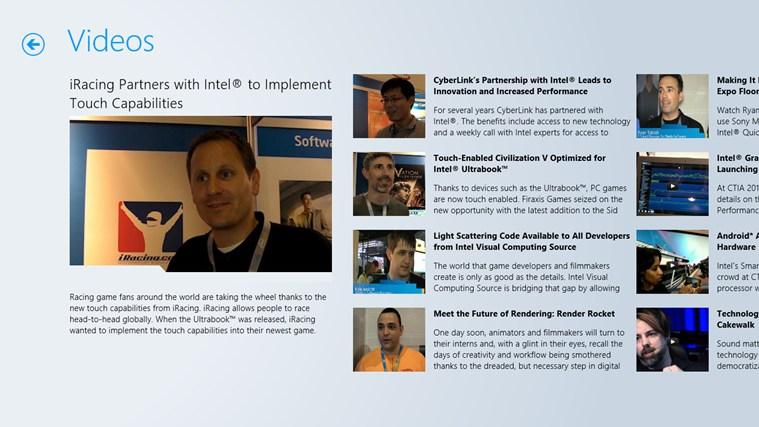 Intel Software Adrenaline screen shot 2
