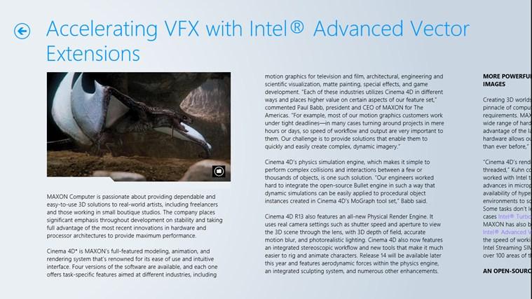Intel Software Adrenaline screen shot 4