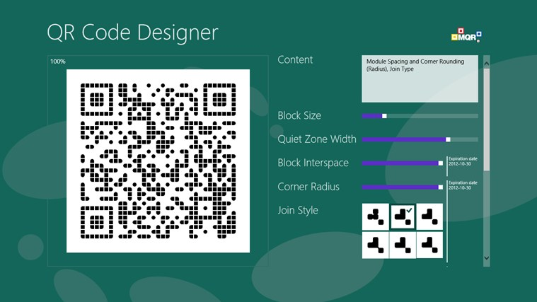 QR Code Designer screen shot 4