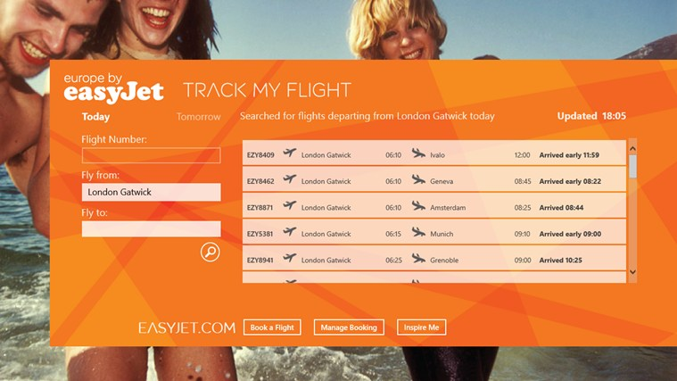 easyJet Flight Tracker screen shot 0