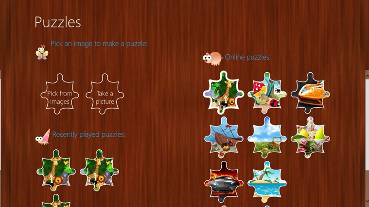 Puzzles screen shot 2