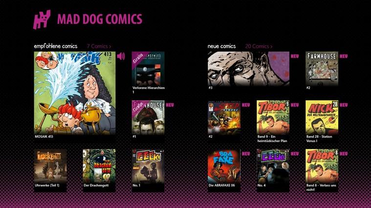 Mad Dog Comics Screenshot 0