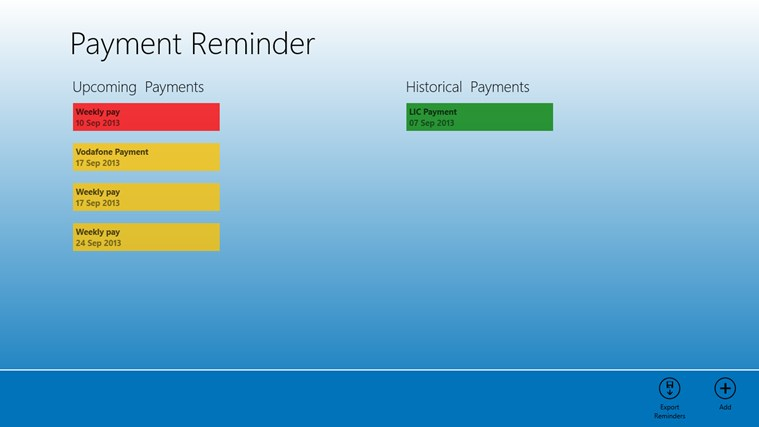 Remind Payment screen shot 0
