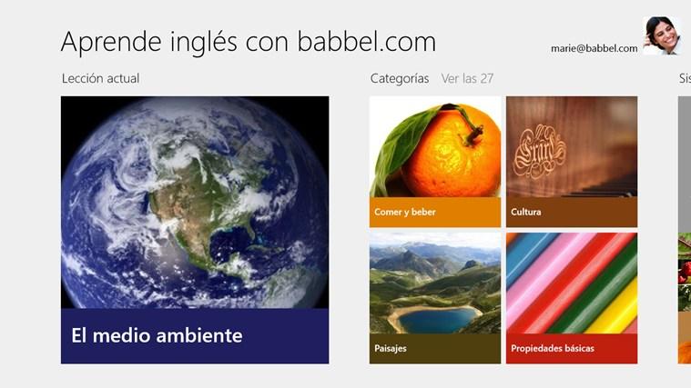Aprender inglés con babbel.com screen shot 0