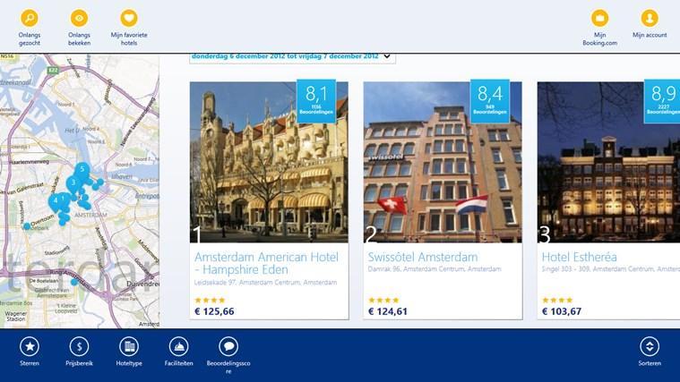 Booking.com schermafbeelding 2