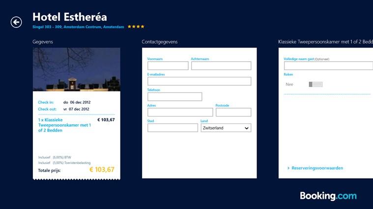 Booking.com schermafbeelding 6