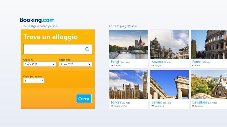 Booking.com cattura di schermata 0
