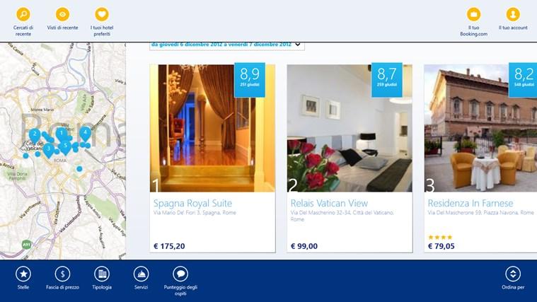 Booking.com cattura di schermata 2