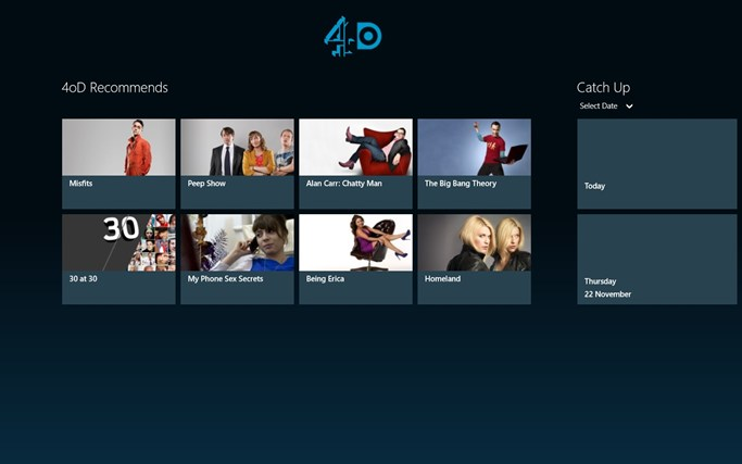 4oD screen shot 0