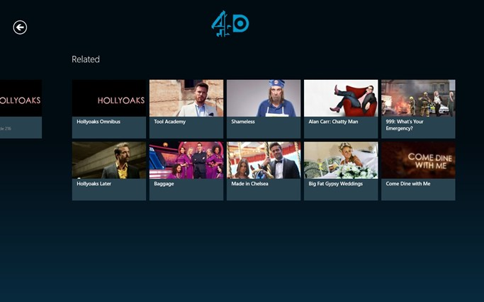 4oD screen shot 6