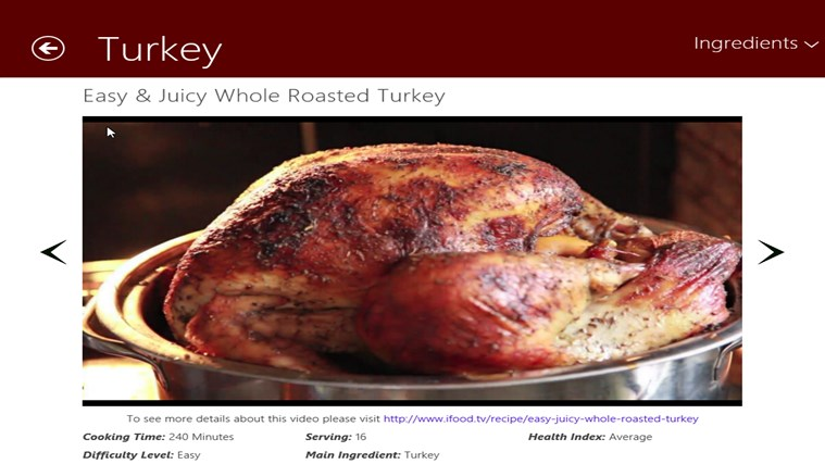 Thanksgiving Food screen shot 4