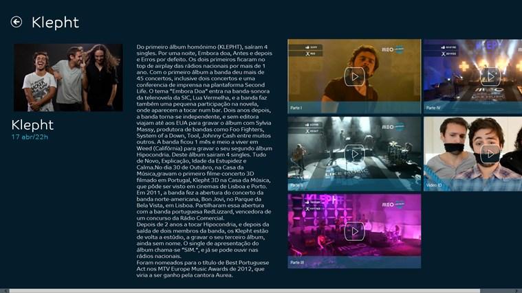 MEO Like Music captura de ecrã 2