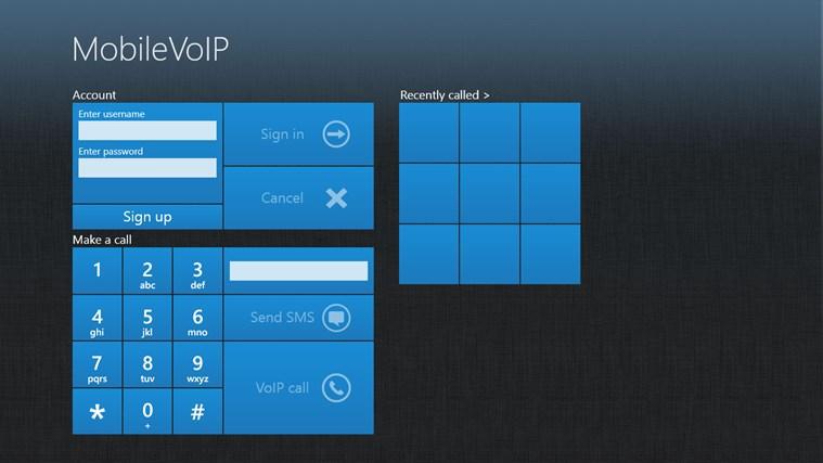 MobileVoIP full screenshot