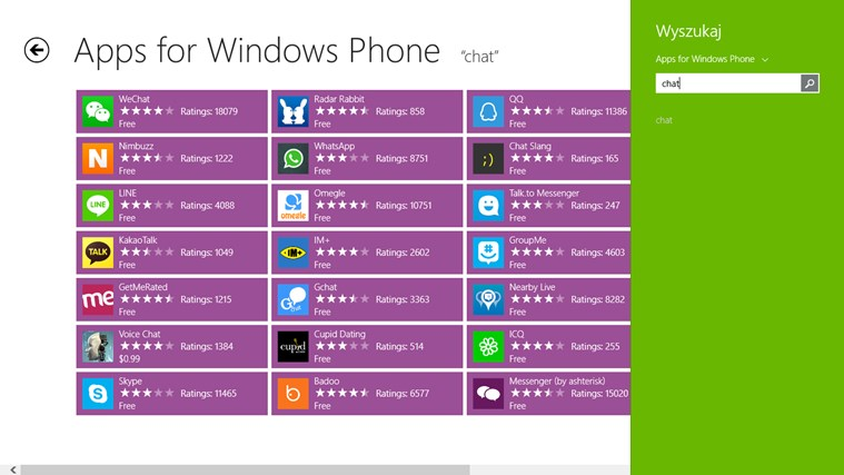 Apps for Windows Phone screen shot 2