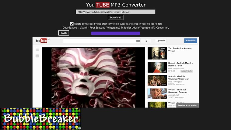 Youtube MP3 Converter screen shot 2