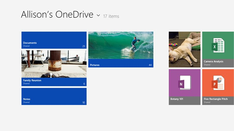 OneDrive screen shot 0