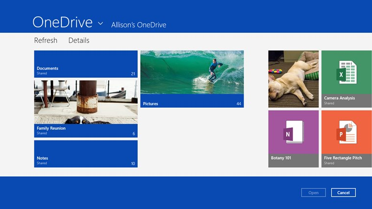 OneDrive screen shot 2