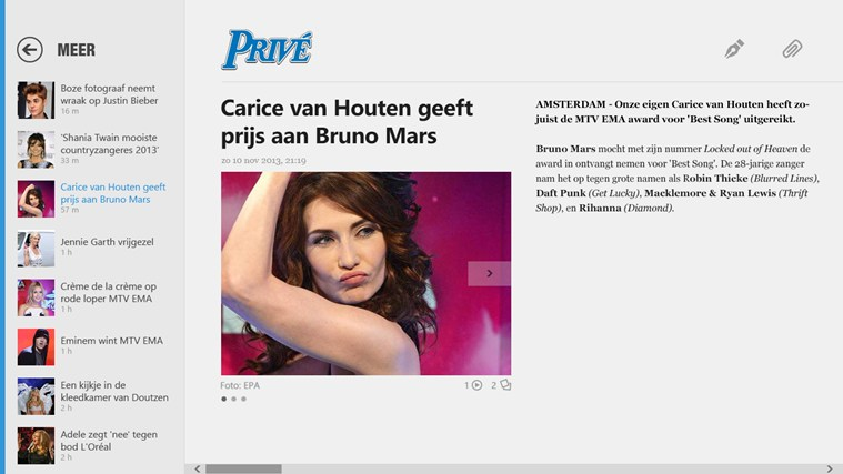 De Telegraaf screen shot 2