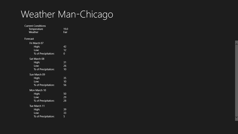 Weather Man-Chicago screen shot 0