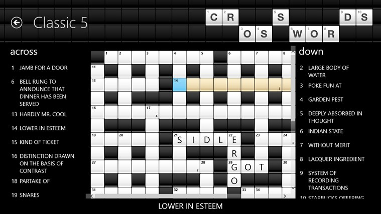 Crosswords screenshot 0