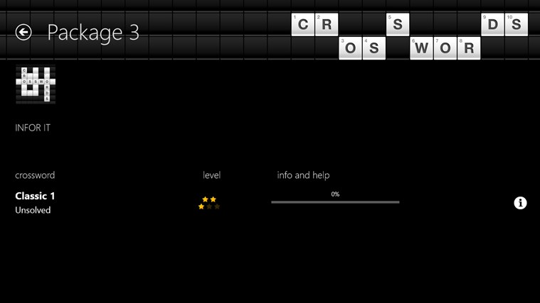 Crosswords screenshot 2