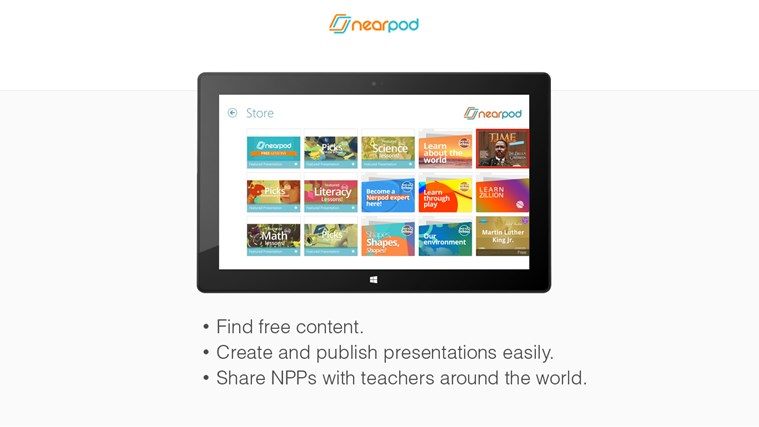 Nearpod screen shot 2