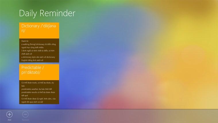 Tiles Reminder screen shot 0