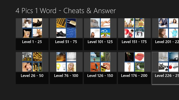 4 Pics 1 Word - Cheats and Answers screen shot 0