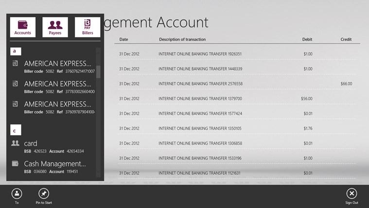 Westpac Banking for Windows 8 screen shot 4