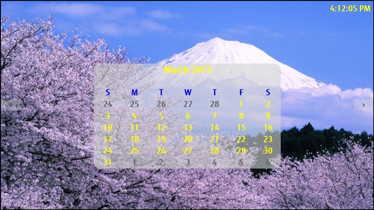 Mt. Fuji Calendar screen shot 0