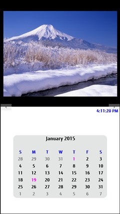 Mt. Fuji Calendar screen shot 2