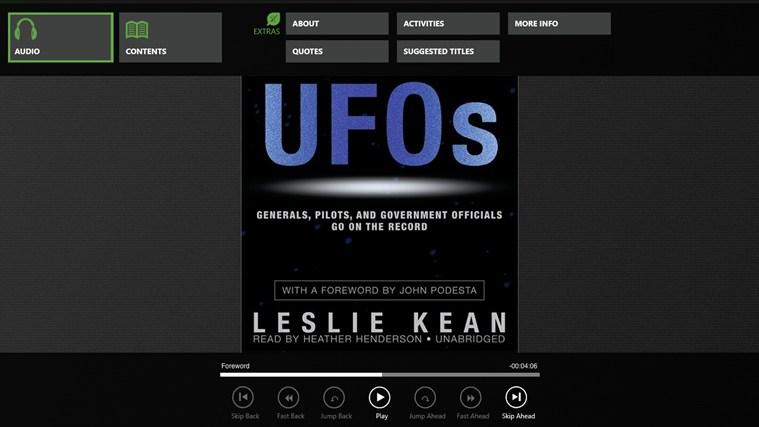 UFOs (Leslie Kean) zrzut ekranu 0