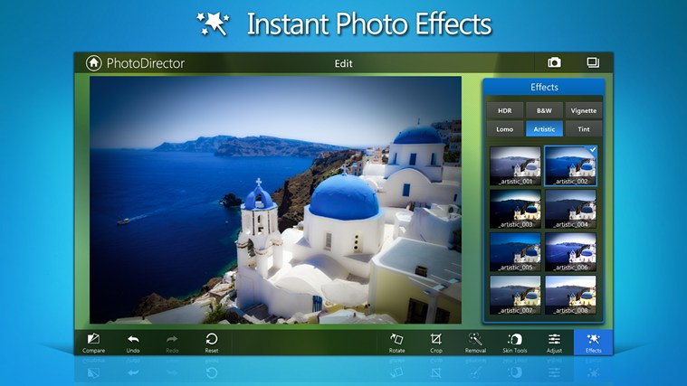PhotoDirector Mobile for Win8 UI full screenshot