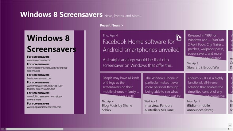 Windows 8 Screensavers screen shot 0