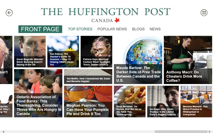 The Huffington Post Canada screen shot 2