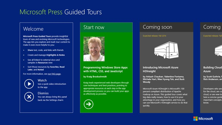 Microsoft Press Guided Tours screen shot 0