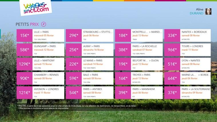 Voyages-SNCF capture d'écran 6