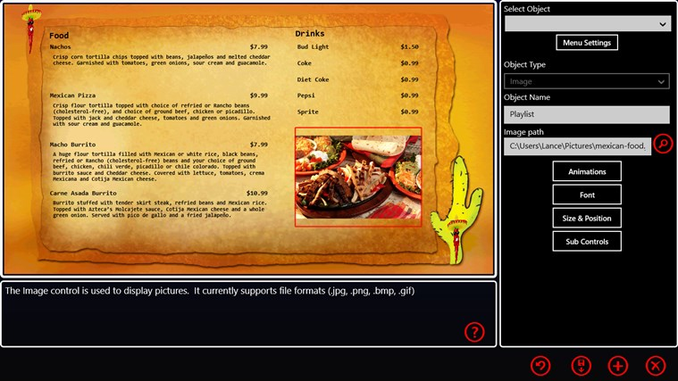 My Digital Menu Boards screen shot 0