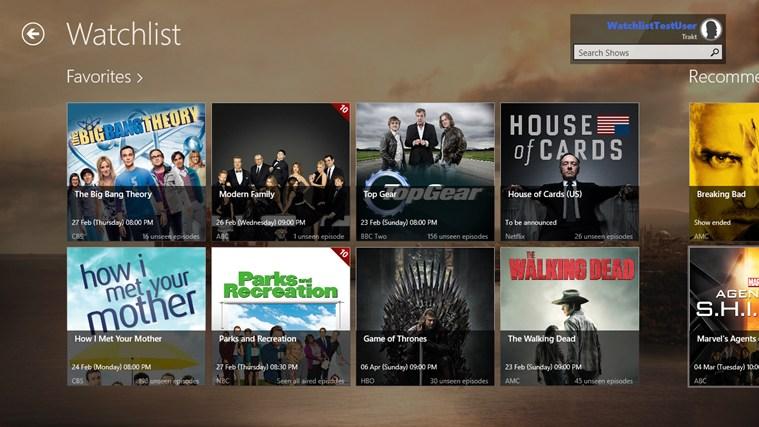 Watchlist screen shot 0